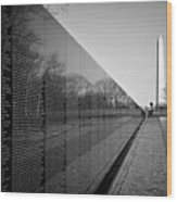 The Vietnam Veterans Memorial Washington Dc Wood Print