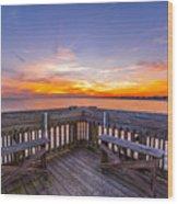 The View Folly Beach Sc Wood Print