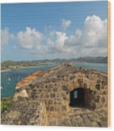 The View From Fort Rodney On Pigeon Island Gros Islet Caribbean Wood Print