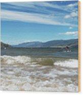 The View From Okanagan Beach Wood Print