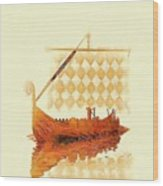 The Viking Ship Wood Print
