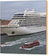 The Viking Star Cruise Liner In Venice Italy Wood Print