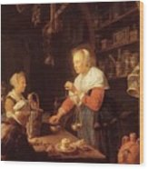 The Village Grocer 1647 Wood Print