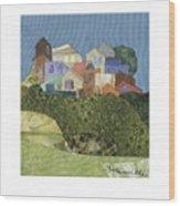 The Village Wood Print
