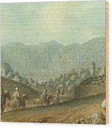 The Village Of Betania With A View Of The Dead Sea Wood Print