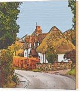 The Village Of Chilbolton Wood Print
