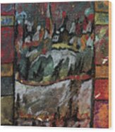 The Village On A Hill Wood Print