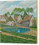 The Village Pond In Wroxton Wood Print