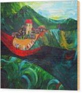 The Village Rivers I Wood Print