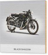 The Vincent Black Shadow Wood Print