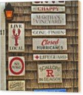 The Vineyard Wood Print by Joann Vitali