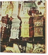 The Vintage Postage Card Wood Print