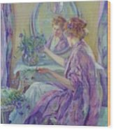 The Violet Kimono 1911 Wood Print