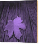 The Violet Leaf Wood Print