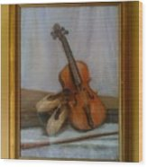 The Violin  Wood Print