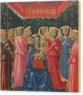 The Virgin And Child With Angels Wood Print