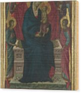 The Virgin And Child With Four Angels Wood Print