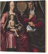 The Virgin And Child With Saint Anne Wood Print