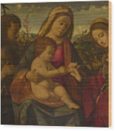 The Virgin And Child With Saints Wood Print