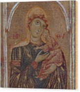 The Virgin And Child With Two Angels Wood Print