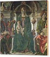 The Virgin And Saints Wood Print