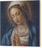 The Virgin At Prayer Wood Print by Il Sassoferrato