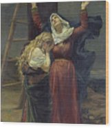 The Virgin At The Foot Of The Cross Wood Print