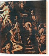 The Virgin Entering The Temple Wood Print