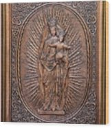 The Virgin Mary With Jesus Christ Wood Print