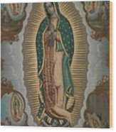The Virgin Of Guadalupe With The Four Apparitions Wood Print