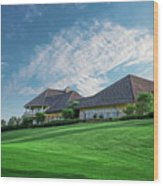 The Virtues Golf Course Clubhouse Wood Print