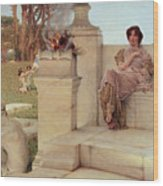The Voice Of Spring Wood Print by Sir Lawrence Alma-Tadema