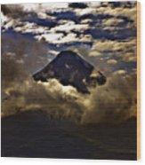 The Volcano Wood Print