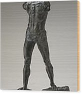 The Walking Man (l'homme Qui Marche) Wood Print