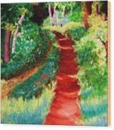 The Walking Trail Wood Print