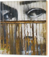 The Walls Have Eyes Wood Print