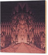 The Walls Of Barad Dur Wood Print