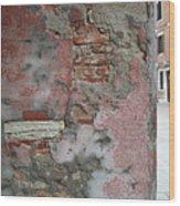 The Walls Of Venice Wood Print