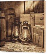 The Warehouse Wood Print