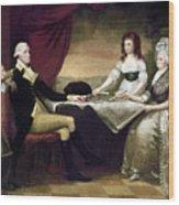 The Washington Family Wood Print