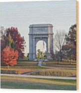 The Washington Memorial At Valley Forge Panorama Wood Print