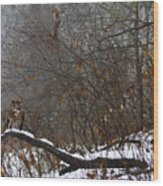The Watcher Wood Print