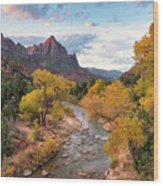 The Watchman At Sunrise Wood Print