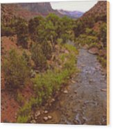 The Watchman Formation Zion Wood Print