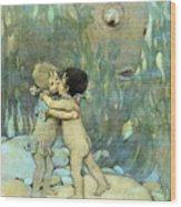 The Water-babies Wood Print