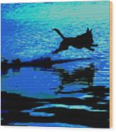 The Water Dog - Debbie May.fineartamerica.com Wood Print