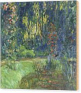 The Water-lily Pond At Giverny  Wood Print
