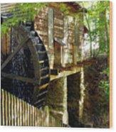 The Water Wheel Wood Print