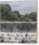 The Waterfall - Harrisville Wood Print