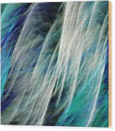 The Waterfall Abstract Wood Print